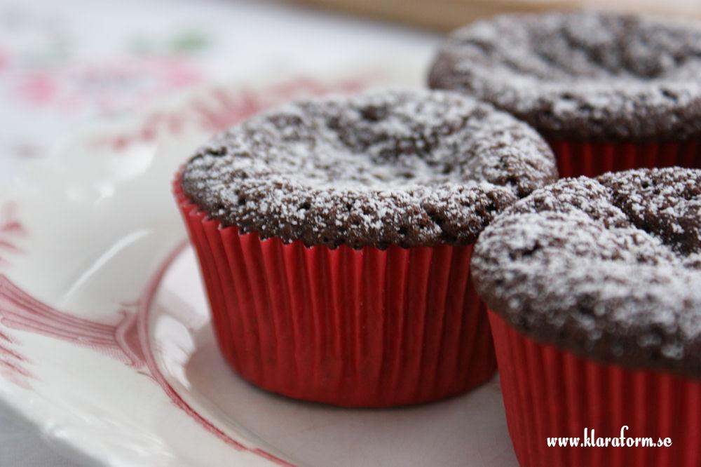 Röda muffinsformar